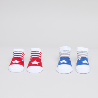 Juniors Bib and Booties - Set of 4