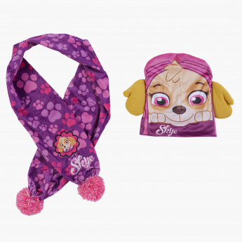 Skye Printed Beanie Cap with Scarf