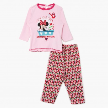 Minnie Mouse Printed Pyjama Set