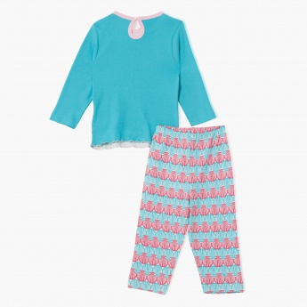 The Little Mermaid Printed Pyjama Set