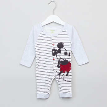 Mickey Mouse Printed Long Sleeves Sleepsuit