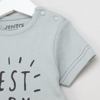 Juniors Printed Short Sleeves T-Shirt and Pyjama Set