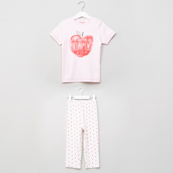 Juniors Graphic Print 2-Piece Pyjama Set