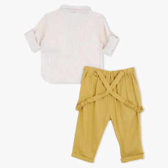 Giggles Striped Shirt and Pants Set