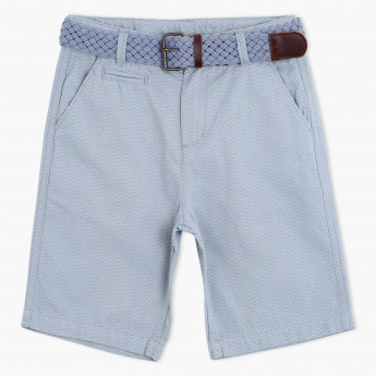 Eligo Printed Shorts with Belt