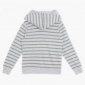 Juniors Striped Sweatshirt