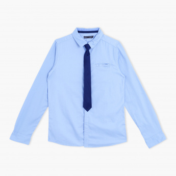 Posh Long Sleeves Shirt with Tie