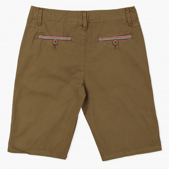 Posh Shorts with Button Closure