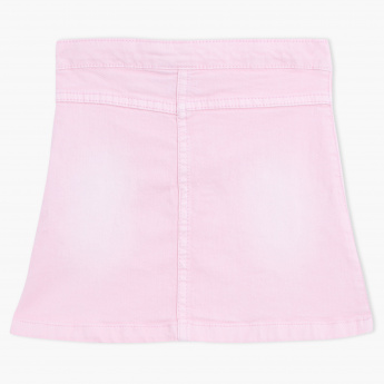 Juniors Skirt with Button Closure