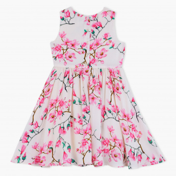 Juniors Printed Sleeveless Dress