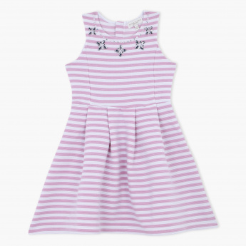 Juniors Striped Embellished Dress