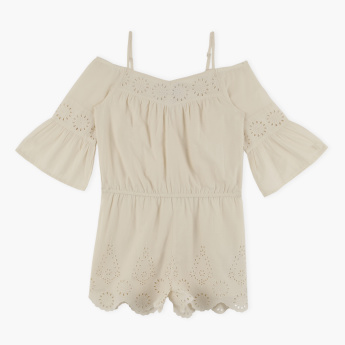 Posh Flared Sleeves Playsuit
