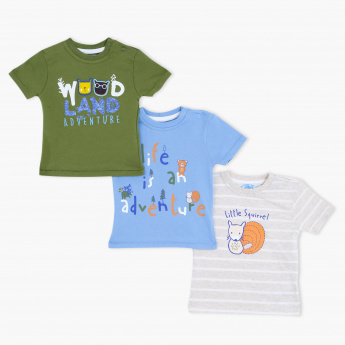 Juniors Printed T-Shirt - Set of 3
