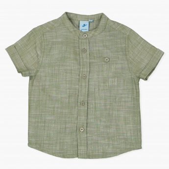 Juniors Mandarin Collar Shirt