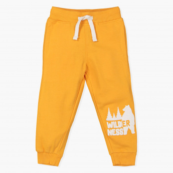 Juniors Printed Jog Pants with Elasticised Waistband