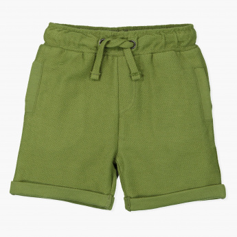 Juniors Textured Shorts with Elasticised Waistband