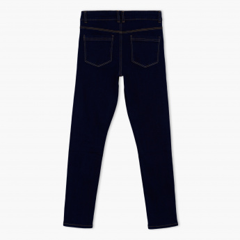 Posh Full Length Jeans with Button Closure