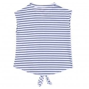 Juniors Striped Sleeveless Top