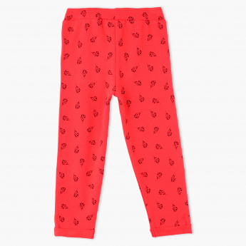 Juniors Printed Full Length Pants with Elasticised Waistband