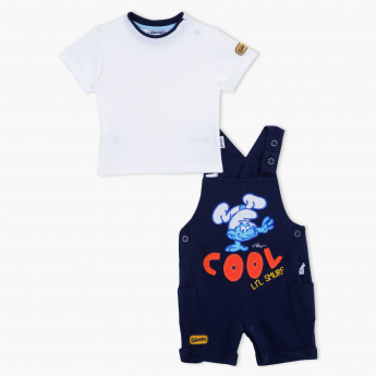 The Smurfs Dungaree and T-Shirt Set