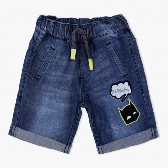 Batman Applique Shorts with Elasticised Waistband