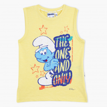 The Smurfs Printed Crew Neck T-Shirt