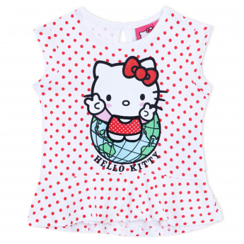 Hello Kitty Printed Round Neck Top