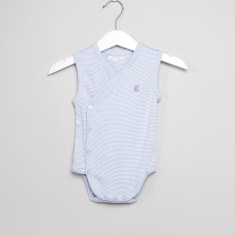 Giggles Striped Sleeveless Bodysuit