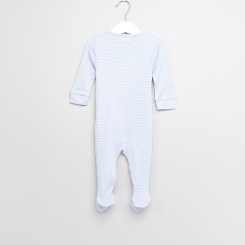 Giggles Striped Long Sleeves Closed Feet Sleepsuit