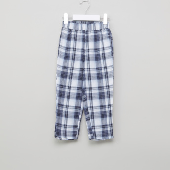 Juniors Short Sleeves T-Shirt and Chequered Pyjama Set