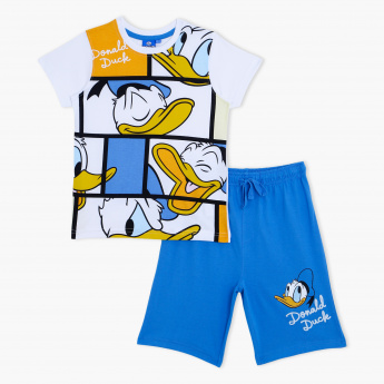 Donald Duck Print T-Shirt and Bermuda Shorts