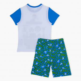 Ben 10 Print T-Shirt and Bermuda Shorts Set