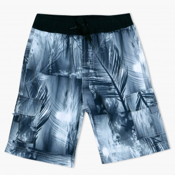 Juniors Printed Shorts with Elasticised Waistband