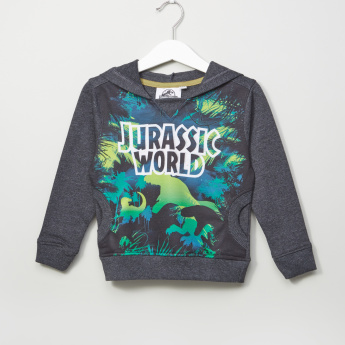 Jurassic World Printed Long Sleeves Hooded  Sweatshirt