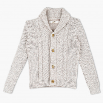 Eligo Woven Long Sleeves Cardigan