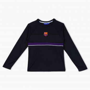 a43764205 FC Barcelona Embroidered Crew Neck T-Shirt