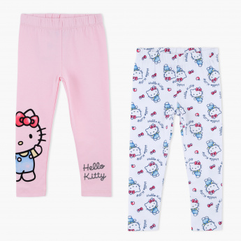 972b0480651c6 Hello Kitty Printed Full Length Leggings - Set of 2 | Multicolour | Leggings