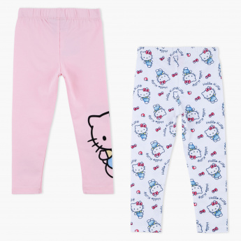 49d523cabcdbd Hello Kitty Printed Full Length Leggings - Set of 2 | Multicolour ...