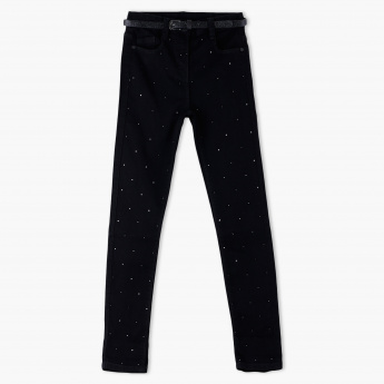 Juniors Embellished Full Length Pants