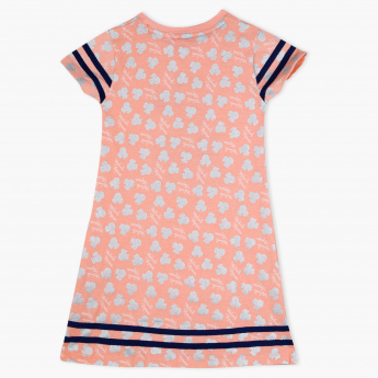 Minnie Mouse Printed Round Neck Dress