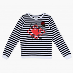 Lee Cooper Striped T-Shirt with Long Sleeves