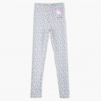 dcbf1d35997bf Hello Kitty Printed Full Length Leggings with Elasticised Waistband | Grey  | Leggings