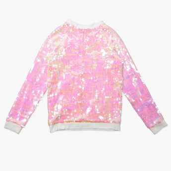 Hello Kitty Sequin Detail Long Sleeves Sweat Top
