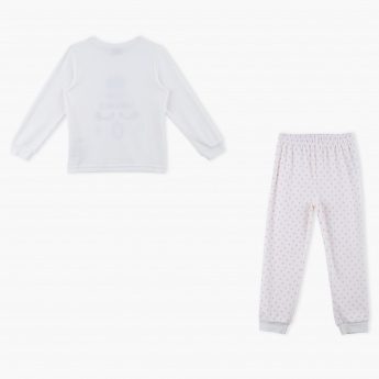 Juniors Printed T-Shirt and Jog Pants Set