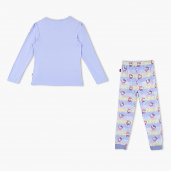 f4d1bb865 Hello Kitty Print T-Shirt and Pants Set | Purple | Casual