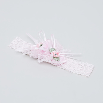 Giggles Floral Detail Lace Headband