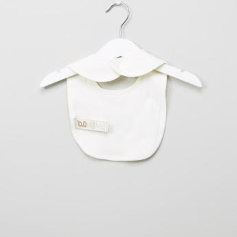 Giggle Embroidered Bib with Snap Button
