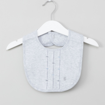 Giggles Embroidered Bib with Press Button Closure