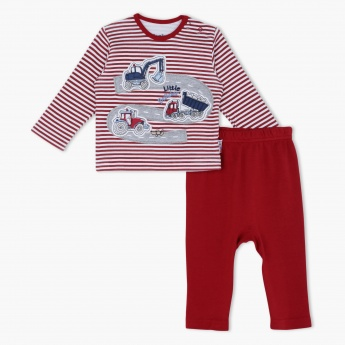 Juniors Striped Pyjama Set