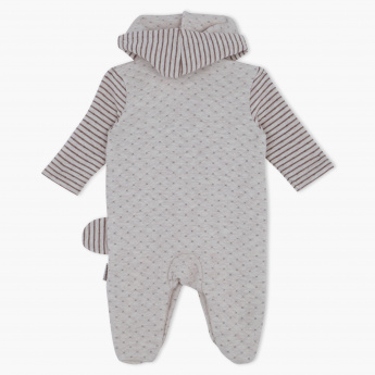 Juniors Embroidered Sleepsuit with Hood